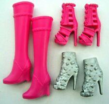 Mattel Barbie® Fashionistas original Zubehör Schuhe flach beige selten DMP31 neu