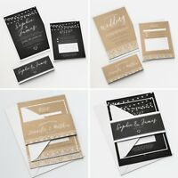 Personalised Wedding Invitations Sets Bundle Day or Evening RSVP