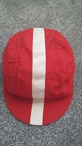 RAPHA Red White LINE CYCLING QUALITY SUMMER CAP, SIZE Medium