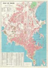 1964 Institute Geographique City Map of Dakar, Senegal