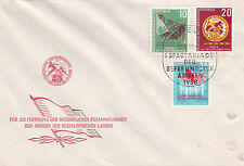 East Germany DDR 1958 1st Summer Military Games Leipzig FDC Unadressed VGC