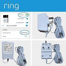 Blanco fuente de alimentación cargador de batería Anillo Adaptador Para Video Timbre Timbre 2