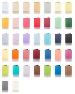 10 farbige blanko Klappkarten, Faltkarten - 100 x 150 mm für DIN C6 Kuverts 240g