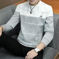 Camisa De Manga Larga Para Hombre Moda Casual Primavera Otoño Camiseta Estampado