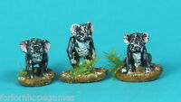 Koalas (3) 20mm metal miniature Warhammer Miniature Unpainted Historical wargame