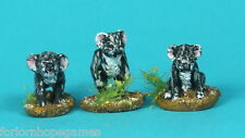 Koalas (3) 20mm metal miniature Warhammer Miniature Unpainted Historical wargame