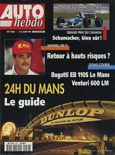 AUTO HEBDO n°936 du 15 Juin 1994 24h du MANS BUGATTI EB110 VENTURI 600LM
