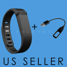 LARGE BLACK BAND WITH CLASP (NO TRACKER) +CHARGER FOR FITBIT FLEX BAND BRACELET