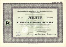 F.Küppersbusch & Söhne AG  100DM Gelsenkirchen  1955