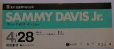 SAMMY DAVIS Jr              Ticket  concert  TOKYO 1973