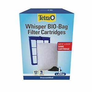 NEW Unassembled Disposable Bio-Bag Filter Cartridges for Aquarium Large 12 Count