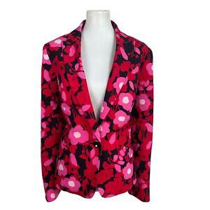 KASPER Women 1PC Multicolored Polyester Lined Single Breasted Blazer Size 16