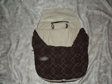 JJ COLE ~ BUNDLE ME LITE ~ Brown ( For use with an infant car seat up to 21 lbs)