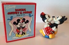 Mickey Minnie Mouse Wind Up Toy Schylling Dancing Retro Look New in Box