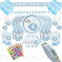 BABY SHOWER BOY Party Pack Tableware & Decorations Pack Kits BABY ELEPHANTS