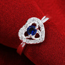 Zircon Sweet Heart Women Ring Ayr643 2 Colors 925Sterling Silver Fashion Jewelry