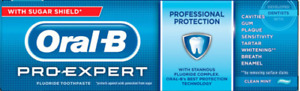 Oral B Pro Expert Toothpaste Professional Protection Clean Mint 75ml 2,3 or 6
