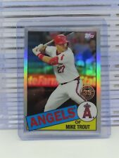2020 Topps Chrome Mike Trout 1985 Topps 35th Anniversary Refractor U32