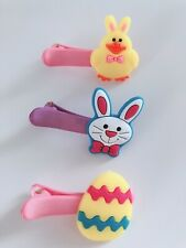 3x Girl Egg Bunny Rabbit Chicken Easter Hat Decoration Cute hair Pin head Clips