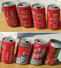 Lotto 8 lattine Coca Cola anni 90 da collezione
