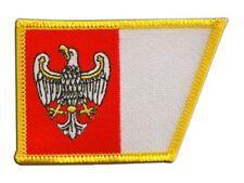 Polen Woiwodschaft Großpolen Aufnäher Flaggen Fahnen Patch Aufbügler 8x6cm