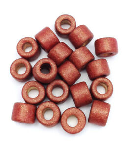 Ceramic tubes Red-Brown Metallic 6mm 20 Piece ceramic beads