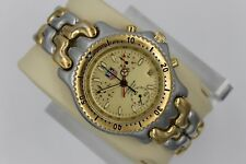 Tag Heuer CG1121.BB0424 Watch Mens SEL Gold SS Link Silver Chronograph 2-Tone