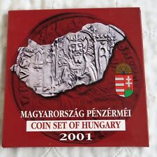 More details for hungary 2001 7 coin uncirculated set - sealed pack
