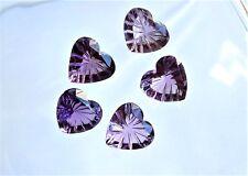 1  Amethyst Herz Heart  ca 15 x 13 mm   8,15 Carat  gerieft / Gravur