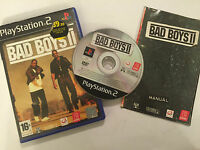 PAL PLAYSTATION 2 PS2 GAME BAD BOYS II / 2 +BOX & INSTRUCTIONS / COMPLETE