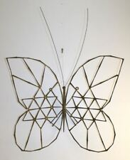 Vintage MCM Welded Nail Butterfly Wall Sculpture. Abstract Brutalist UNIQUE