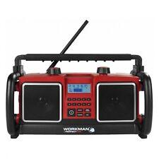 BAUSTELLENRADIO OUTDOOR HANDWERKER RADIO BAURADIO AUX MP3-Anschluss WORKMAN WM1