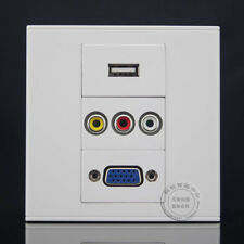 Wall Face Plate RCA  AV + USB Charger+ HD VGA  Assorted Panel Faceplate Outlet