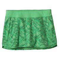 Patagonia Nine Trails Skirt Skort Womens Medium Netta Print Aloe Green Floral