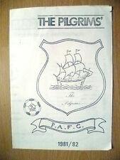 Friendly Match 1981/2- PLAYMOUTH ARGYLE v TOTTENHAM HOTSPUR (Photocopy)
