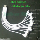 New Universal 10 in 1 Multi Functions USB Charger Cable Cell Phone Charging Cord