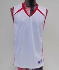 Champion Mens V Neck Mesh Red White Jersey Size Medium Nwot