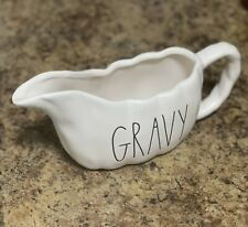 "Rae Dunn Fall Thanksgiving LL ""GRAVY"" Pumpkin Gravy Boat Pitcher By Magenta NEW!"