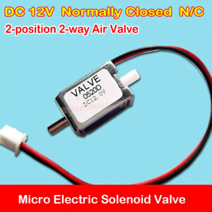 Normally Closed N/C Electric Solenoid Valve DC 12V Mini Air Gas Exhaust Valve