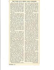 1964 FORD GT'S AT LE MANS AGAINST FERRARI ~ ORIGINAL SMALLER ARTICLE / AD