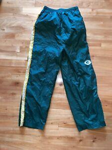 90s VTG GREEN BAY PACKERS Logo Pants WINDBREAKER YXL Swishy NFL Game Day Track