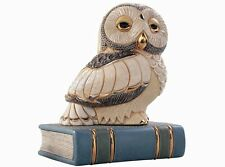 De Rosa Owl on Book Figurine NEW in Gift box
