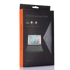 """Wireless Bluetooth Touch Keyboard PU Leather Stand Buckle Case For 7""""~8"""" Tablet"""