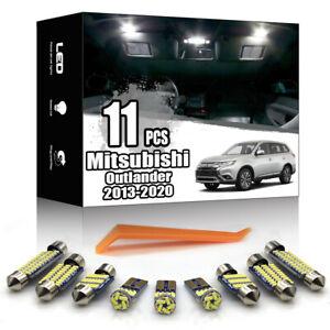 11x For Mitsubishi Outlander 2013-2020 Interior White LED Lighting Kit No Error