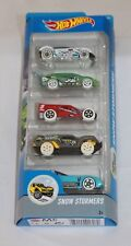 Hot Wheels 5-Pack Toy Cars Snow Stormers Gift Set DJD21