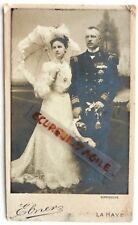 CDV PHOTO EBNER LA HAYE mariage officier de marine amiral avec médailles G573