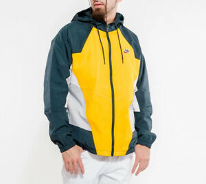 New Nike Sportswear NSW Heritage Yellow Windrunner Zip Jacket CJ4358-739 Men's L