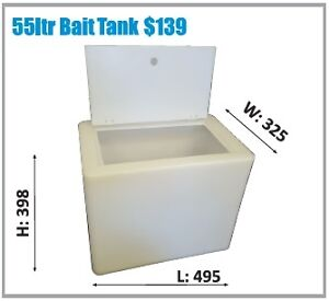 Polymate Aussie Made Fishing Live Well/Bait Tank - 55Ltr  - Natural