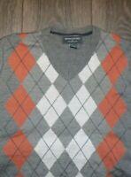 NWOT Banana Republic Argyle Sweater XL Merino Wool V-neck
