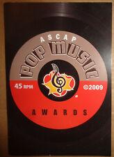 ASCAP 2009 Pop Music Awards Souvenir Program - Santigold, Stargate, Wyclef Jean
